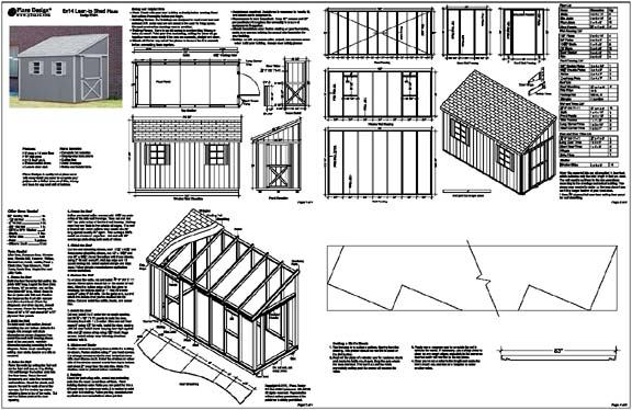 6 X 12 Slant Lean To Style Shed Plans Building