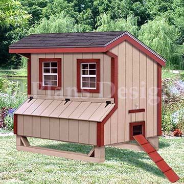 Details about 4'x6' Gambrel / Barn Chicken House / Coop Plans, Material  List Included #90406B