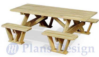 Marvelous Details About Traditional Rectangle Picnic Table Bench Out Door Furniture Plans Odf02 Pabps2019 Chair Design Images Pabps2019Com
