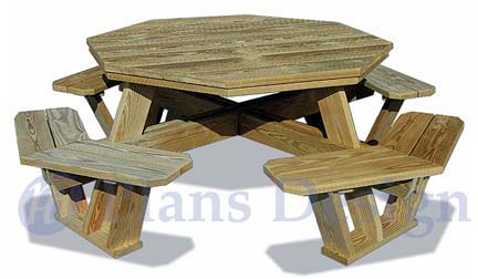 How To Build The Octagon Picnic Table, Design # ODF06