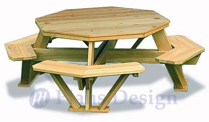 Exceptionnel How To Build The Octagon Picnic Table, Design # ODF05
